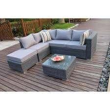 yakoe papaver 5 seater corner sofa set
