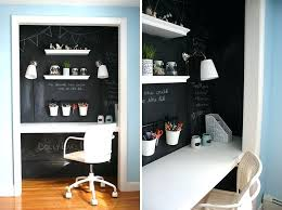 closet office space small apartment design ideas create a home office in a closet the doors