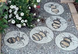 decorative garden stepping stones seattle outdoor art