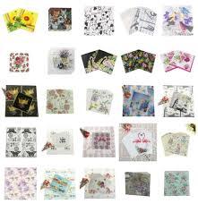 <b>20 PCS</b>/<b>Pack</b> Vintage Color Paper Napkin Party 100% Virgin <b>Wood</b> ...