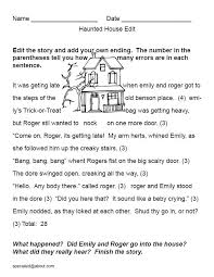 The Haunted House: A Printable Halloween Story Starter