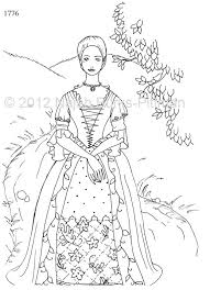 Small Picture Woman in 1776 Dressing Up Through History Coloring Page these