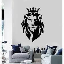 ig3459 vinyl wall decal lion head