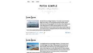 Simple Blog Templates Putih Simple Blogger Template Btemplates