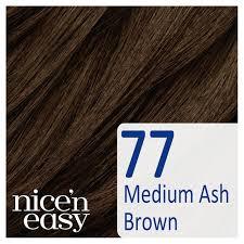 Nice N Easy Light Ash Brown Non Permanent Clairol Nice N Easy Semi Permanent Hair Dye No Ammonia 77 Medium Ash Brown