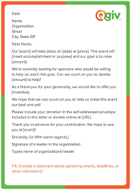 sponsorship forms for fundraising 4 awesome and effective fundraising letter templates