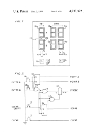 patent us4237372 scorekeeping device for tennis and similar patent drawing