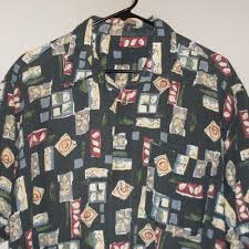 Details About Hawaiian Aloha Shirt No Tags L Large Woven Cotton