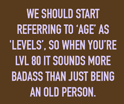Funny Age Quotes Adorable Start Refering To Age As Levels Funny Quotes