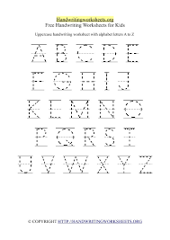Alphabet Handwriting Worksheets A To Z Free Worksheets Library ...
