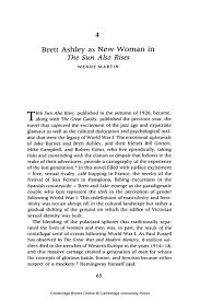 brett ashley as new w in <i>the sun also rises< i   image ‹ previous chapter ›next chapter thesun also rises