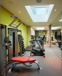 home gym lighting. outstanding home gym ideas for modern interior design skylights and recessed lighting with accent walls i