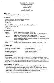 Computer program skills resume resumer example