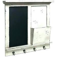 decorative wall organizer wall organizer wall bill organizer vintage white wood wall mounted chalkboard rack holder mail sorter basket 4