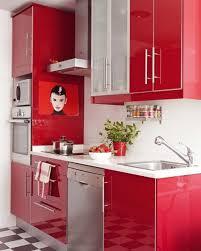 Black White And Red Kitchen Designs Kitchen Simple Red Kitchen Design With Black And White Floor