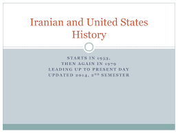 Ppt Iranian And United States History Powerpoint Presentation Id
