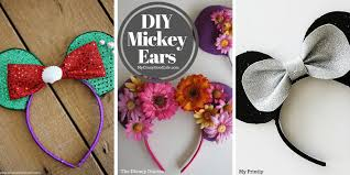 these diy mickey ears tutorials will have you and your family park ready in no time
