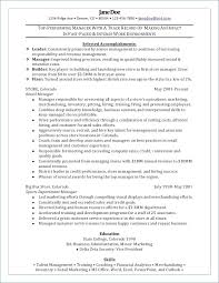 Resume Objective For Retail Fascinating Retail Sales Manager Resume Inspirational Retail Store Manager