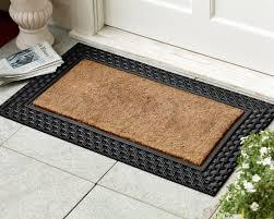 front door matsBasketweave Rubber  Coir Doormat  Williams Sonoma