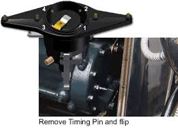 ignition system tip if the engine had been running recently the timing pin should drop into the recess when the rotor is about to line up contact 1 on the