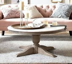 pottery barn benchwright square coffee table marble round c