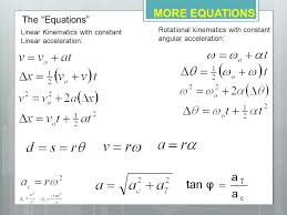 equations for rotational motion with constant acceleration