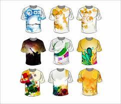 shirt design templates t shirt design templates 38 sets free editable vectors