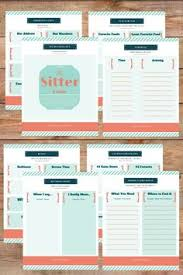 Free Printable Notes For The Babysitter Kid Ideas Babysitting