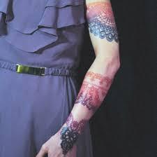 кружевная татуировка на руке татуировки татушка