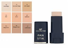 Max Factor Pan Stick Makeup Color Chart Max Factor Pan Stik Affiliateprofitsclub Info