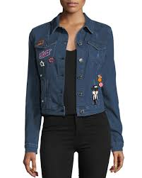 Romeo And Juliet Couture Size Chart Denim Jacket With Embroidered Pins
