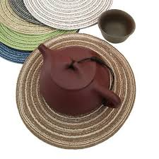 details about hand made dining table mats insulation bowl non slip placemats round coasters kd