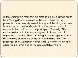 the representations of gender in horror films essay <br > 11
