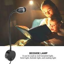 flexible bedside reading light sunix