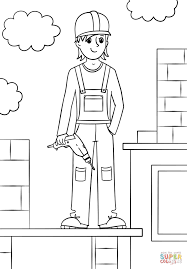 Small Picture Girl Construction Worker coloring page Free Printable Coloring Pages