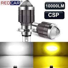 1 Chiếc 10000LM H4 Led Xe Máy Đèn Pha BA20D H6 Xe Máy Led CSP Siêu Sáng Xe  Máy Đầu Đèn Trắng Vàng hi Lo Tia DC|