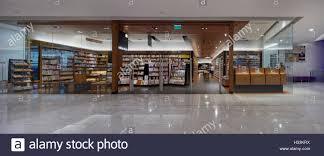 Panoramic front elevation of bookstore entrance Kinokuniya Stock