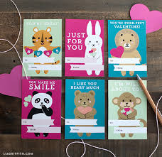 Printable Kids Find Cute Printable Kids Valentines Day Cards By Lia Griffith