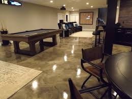 Epoxy With Metallic Marble Design For A Basement Epoxy Flooring - Unfinished basement man cave ideas