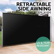 patio awning side panels new 1 8x3m retractable side awning shade home patio garden terrace