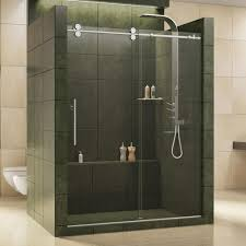 dreamline charisma 56 in to 60 in x 76 in frameless sliding shower door in chrome shdr 1360760 01 the home depot