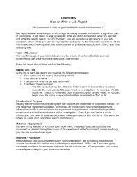 How To Write A Formal Lab Report For Chemistry Writing A Electricians Formal Lab Report