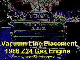 vacuum line placement 1986 z24 gas motor nissan forum nissan vacuum line placement 1986 z24 gas motor