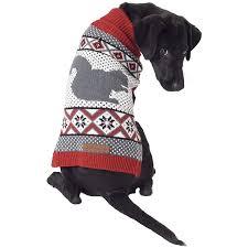 Petrageous Designs Dog Sweater Amazon Com Woodland Fair Isle Sweater Cardinal Red Gray