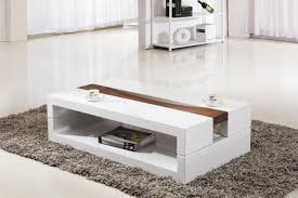 Bellini High Gloss White Coffee Table White Coffee Table With ...