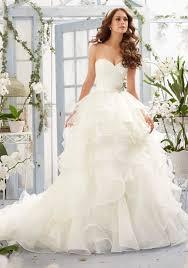 organza wedding gowns. Asymmetrical Draping and Flounced Organza Morilee Bridal Wedding