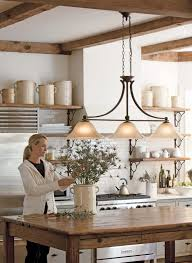 island chandelier lighting. Love The Island Light! Farmhouse Kitchens Design, Pictures, Remodel, Decor And Ideas - Page 46 Chandelier Lighting E