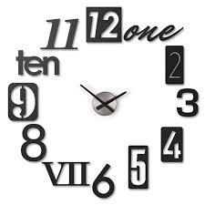 umbra numbra black wall clock 118430