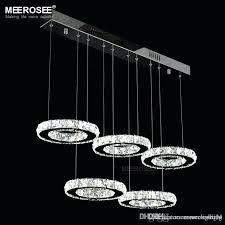 modern chrome chandelier modern chrome chandelier crystals diamond ring led lamp circle stainless steel hanging light