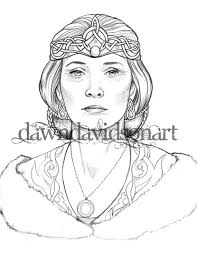 736 x 557 file type: Northern Queen Coloring Page Printable Colouring For Etsy